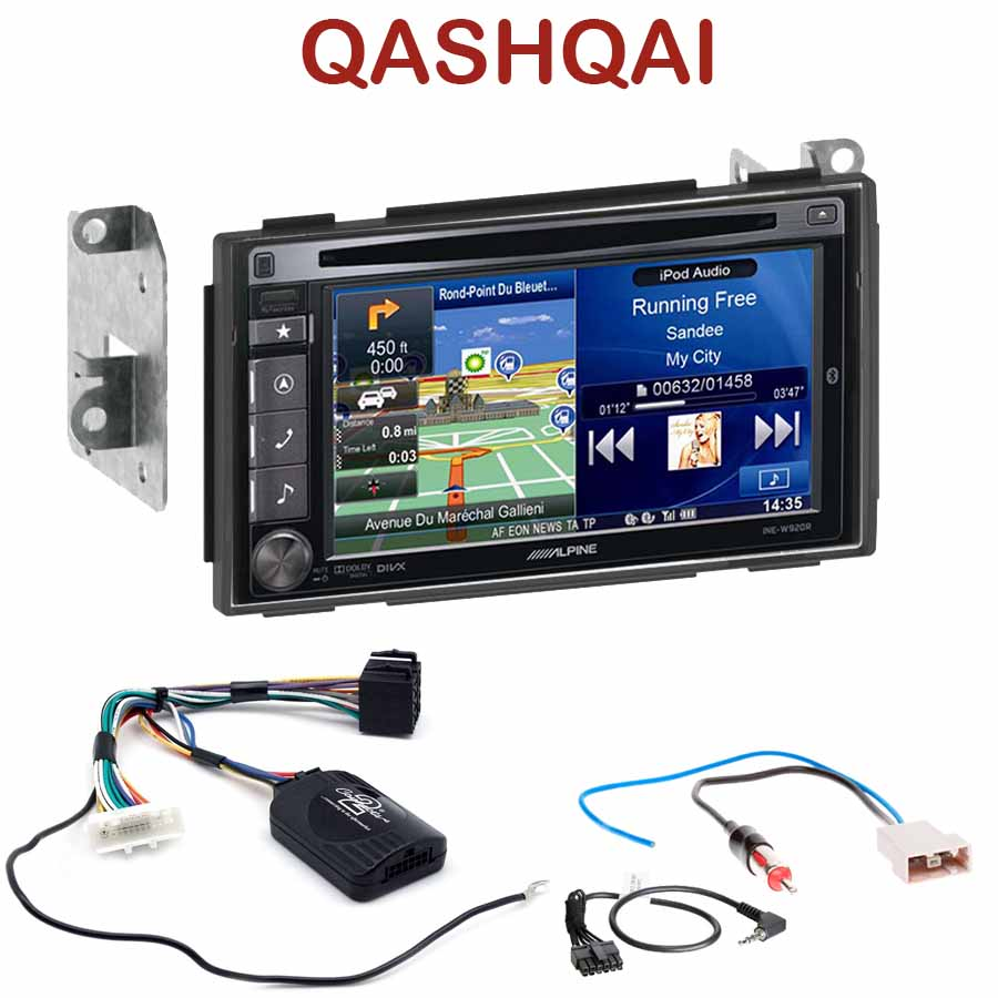 alpine ine w920r nissan qashqai autoradio tactile alpine gps autoradios. Black Bedroom Furniture Sets. Home Design Ideas