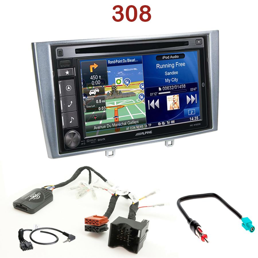 alpine ine w990bt peugeot 308 autoradio tactile alpine gps autoradios. Black Bedroom Furniture Sets. Home Design Ideas