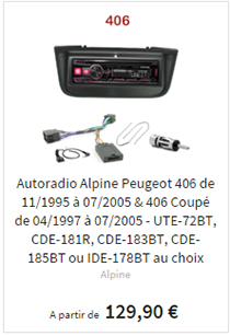 Autoradio usb mp3 Peugeot 406