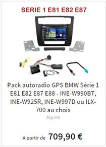 Auradios GPS BMW série 1