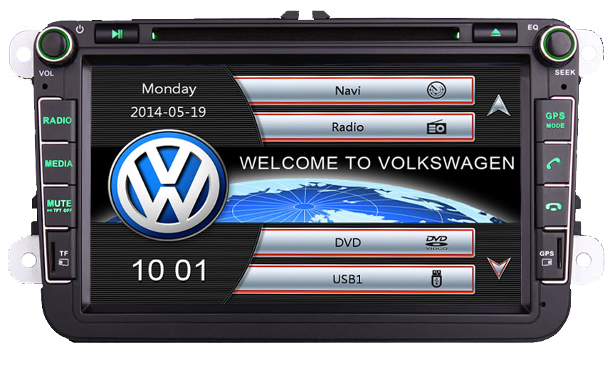 autoradio gps vw golf 5 6 eos scirocco ecran tactile 8 autoradios. Black Bedroom Furniture Sets. Home Design Ideas