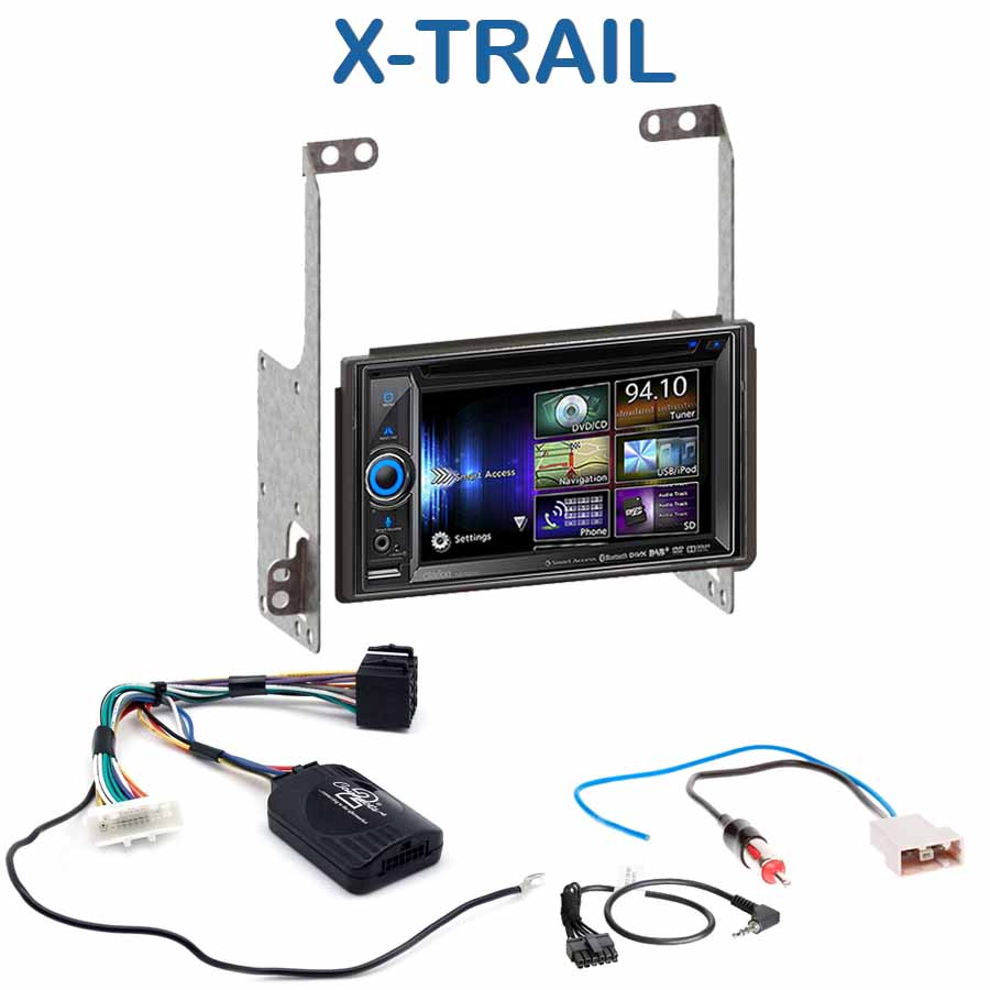 autoradio gps nissan x trail poste navigation dvd bluetooth usb nissan xtrail autoradios. Black Bedroom Furniture Sets. Home Design Ideas