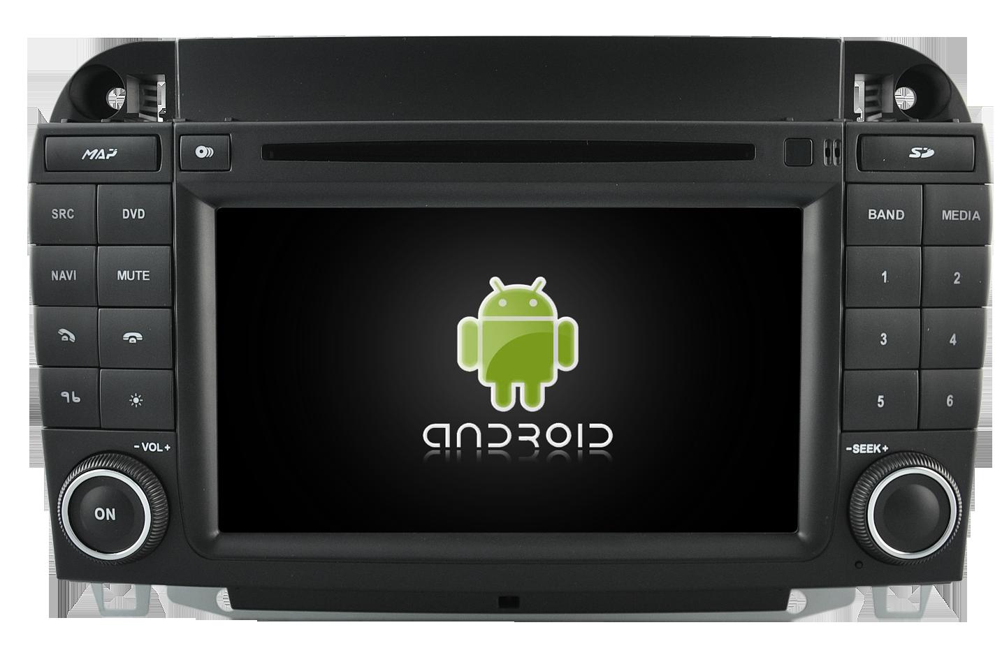android mercedes classe s w220 autoradio gps dvd usb. Black Bedroom Furniture Sets. Home Design Ideas