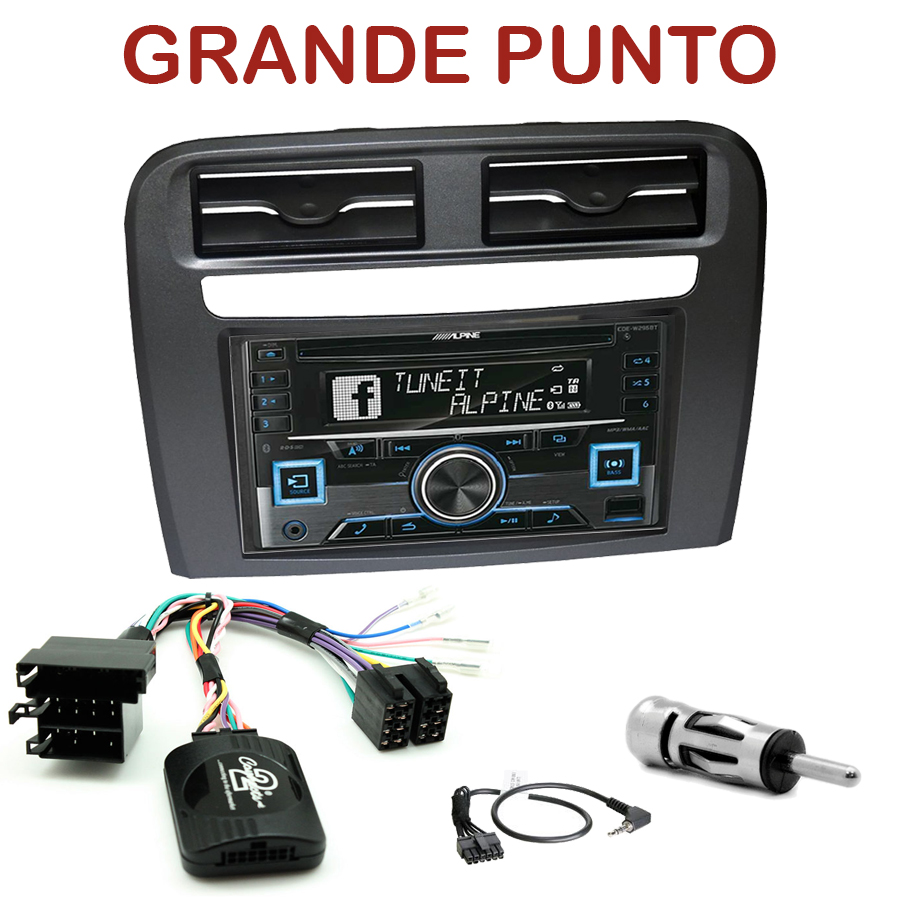 autoradio cd usb bluetooth tactile fiat grande punto depuis 2005 autoradios gps. Black Bedroom Furniture Sets. Home Design Ideas