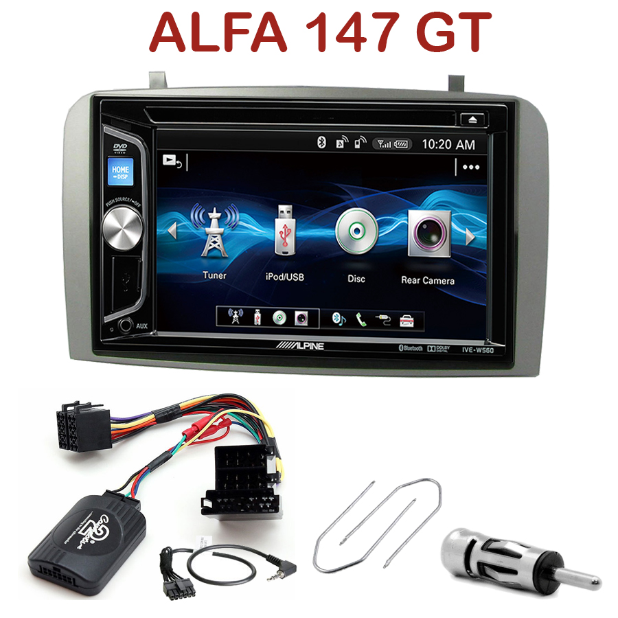 autoradio 2 din alpine alfa romeo 147 gt cd usb bluetooth iphone autoradios. Black Bedroom Furniture Sets. Home Design Ideas