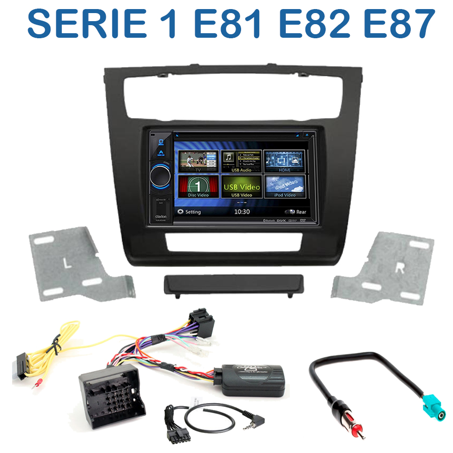 autoradio 2 din clarion poste cd usb mp3 wma bmw serie 1 autoradios. Black Bedroom Furniture Sets. Home Design Ideas