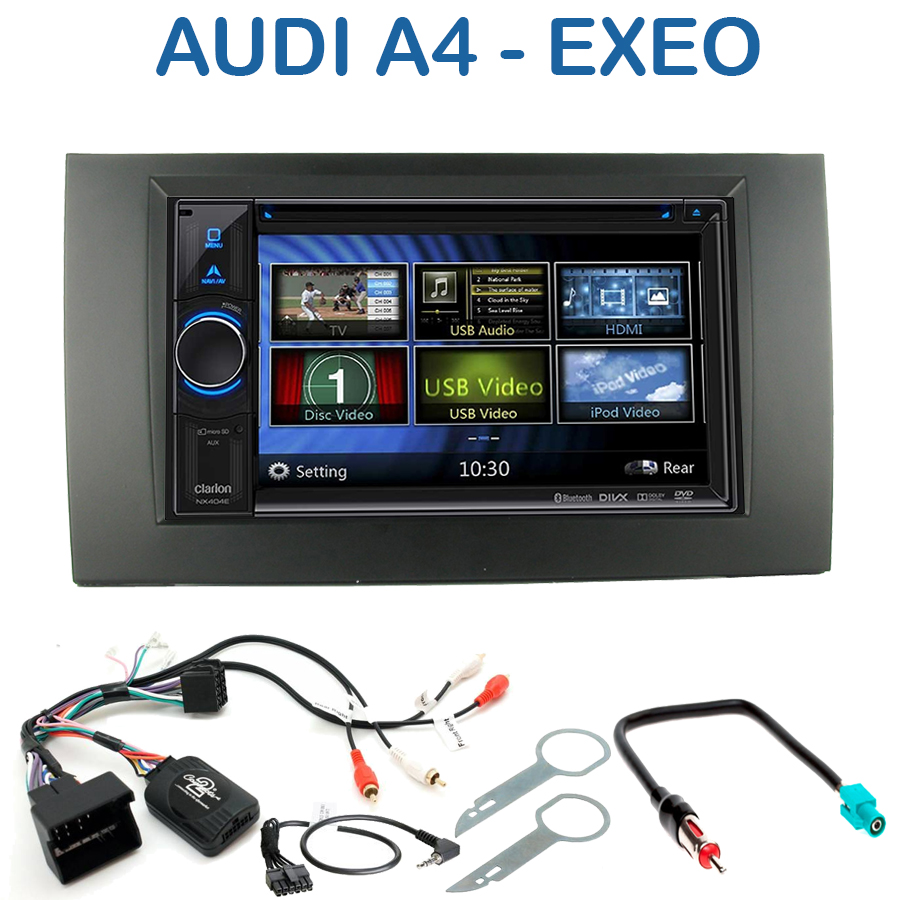 autoradio 2 din clarion poste cd usb mp3 wma audi a4 autoradios. Black Bedroom Furniture Sets. Home Design Ideas