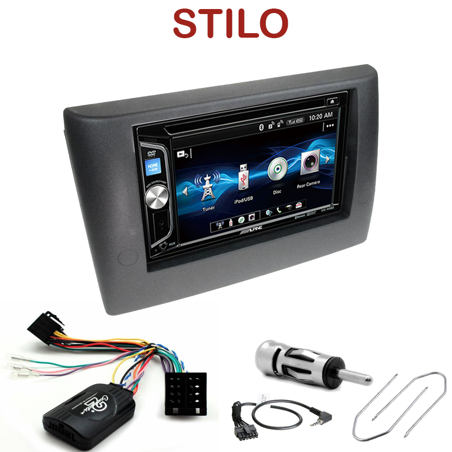 autoradio fiat stilo poste alpine 2 din usb bluetooth cd autoradios. Black Bedroom Furniture Sets. Home Design Ideas