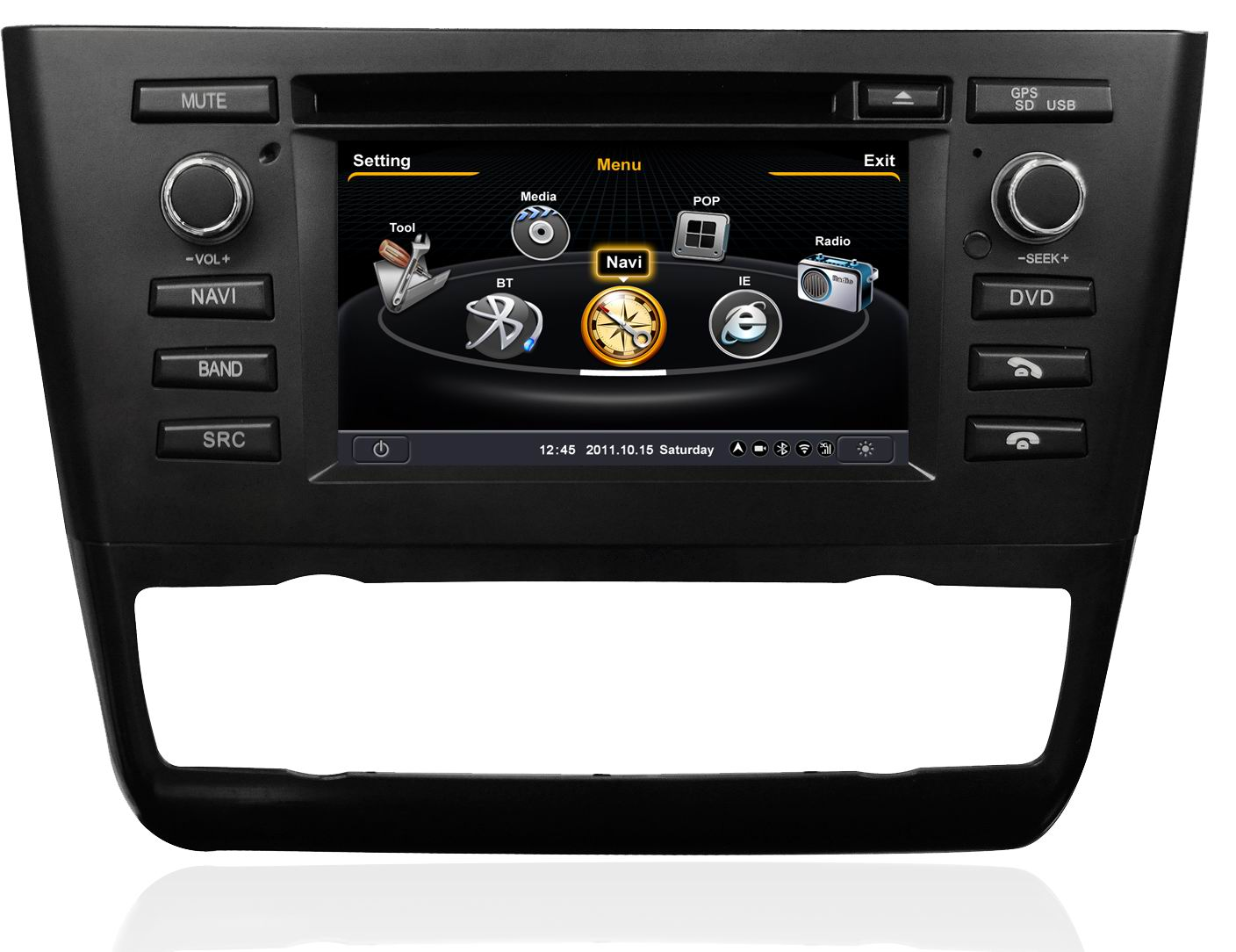 autoradio gps bmw s rie 1 e81 e82 e87 e88 poste dvd usb bmw serie 1 autoradios gps. Black Bedroom Furniture Sets. Home Design Ideas