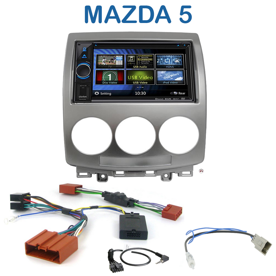 autoradio 2 din clarion poste cd usb mp3 wma mazda 5 autoradios. Black Bedroom Furniture Sets. Home Design Ideas