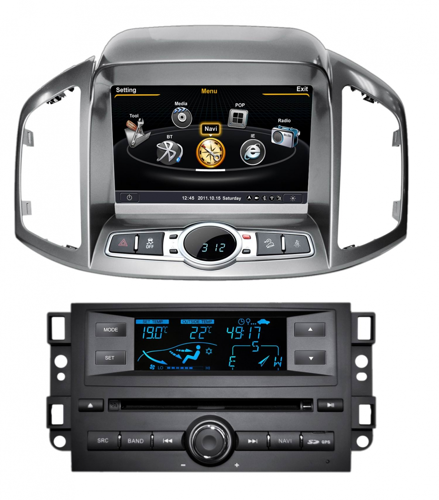 autoradio gps chevrolet captiva poste dvd bluetooth usb. Black Bedroom Furniture Sets. Home Design Ideas