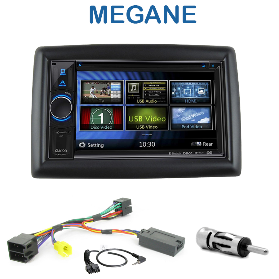 autoradio 2 din clarion poste cd usb mp3 wma renault megane autoradios. Black Bedroom Furniture Sets. Home Design Ideas