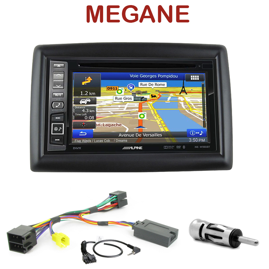 alpine ine w990bt renault megane 2 autoradio tactile alpine gps autoradios. Black Bedroom Furniture Sets. Home Design Ideas