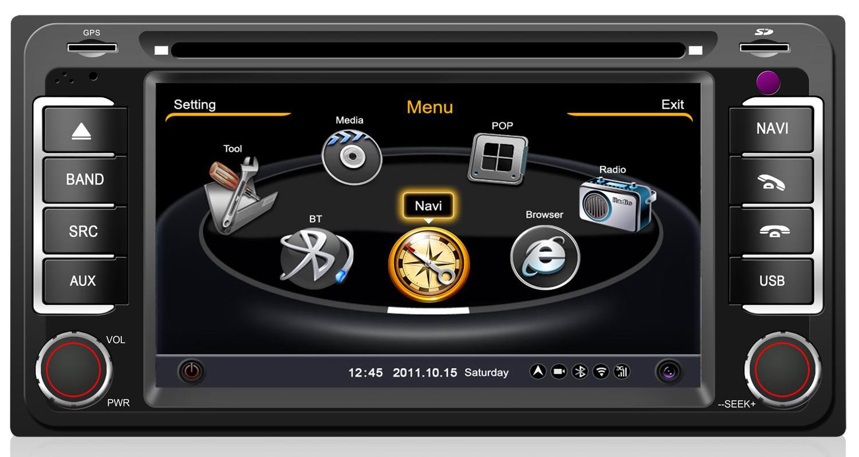 poste toyota autoradio gps dvd usb bluetooth streaming audio autoradios. Black Bedroom Furniture Sets. Home Design Ideas