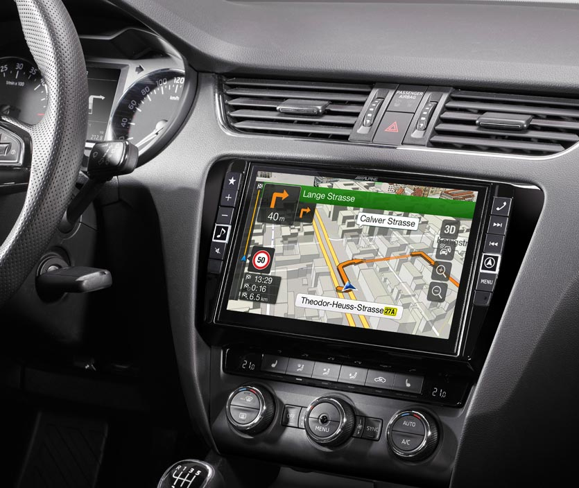autoradio gps alpine style x901d oc3 compatible skoda octavia. Black Bedroom Furniture Sets. Home Design Ideas