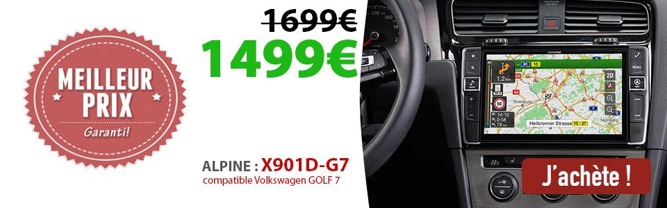 X904D-G7 alpine Volkswagen Golf 7