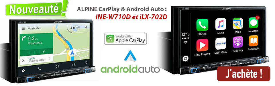 Carplay et Android Auto ALPINE