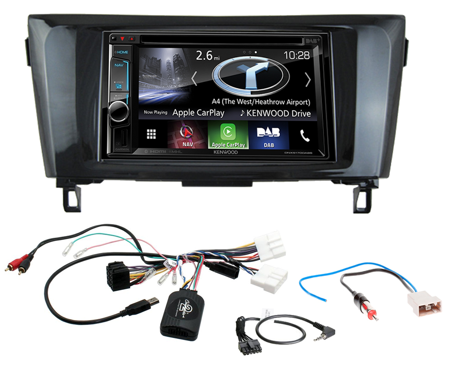 autoradio gps nissan qashqai x trail ecran tactile kenwood autoradios. Black Bedroom Furniture Sets. Home Design Ideas