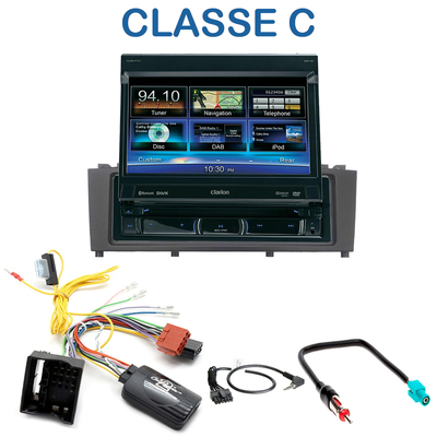 autoradio 1 din gps cran motoris mercedes benz classe c w204 de 2007 2013 nz502e clarion. Black Bedroom Furniture Sets. Home Design Ideas