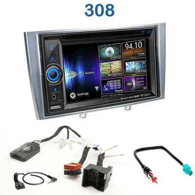 autoradio gps peugeot 308 et 308cc poste dvd navigation. Black Bedroom Furniture Sets. Home Design Ideas