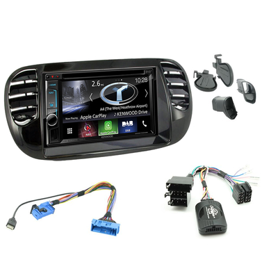 autoradio gps fiat 500 poste navigation kenwood fiat 500 autoradios gps. Black Bedroom Furniture Sets. Home Design Ideas