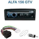 Poste 1-DIN CD/USB/Bluetooth Alfa Romeo 156 de 1997 à 2001 & GTV depuis 2003 - autoradio JVC et Kenwood au choix