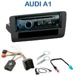 Poste 1-DIN CD/USB/Bluetooth Audi A1 depuis 09/2010 - autoradio JVC et Kenwood au choix