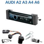 Poste 1-DIN CD/USB/Bluetooth Audi A2 de 2000 à 2005, A3 de 2000, A4 de 1999 à 2001 & A6 de 1997 à 2000 et depuis 2003 - autoradio JVC et Kenwood au choix
