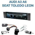 Poste 1-DIN CD/USB/Bluetooth Audi A3  de 2000 à 2003 & A6 de 2000 à 2004 ; Seat Leon de 1999 à 2006 & Toledo de 1999 à 2004 - autoradio JVC et Kenwood au choix