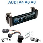 Poste 1-DIN CD/USB/Bluetooth Audi A4 de 1994 à 1999, A6 de 1994 à 1997 & A8 de 1994 à 1999 - autoradio JVC et Kenwood au choix