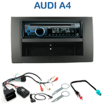 Poste 1-DIN CD/USB/Bluetooth Audi A4 (B6) de 2002 à 2006 & A4 (B7) de 2004 à 2006 (CD/USB/MP3/WMA) - autoradio JVC et Kenwood au choix