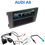Poste 1-DIN CD/USB/Bluetooth Audi A6 de 2001 à 2005 - autoradio JVC et Kenwood au choix