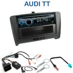 Poste 1-DIN CD/USB/Bluetooth Audi TT (8J) depuis 2006 - autoradio JVC et Kenwood au choix