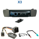 Poste 1-DIN CD/USB/Bluetooth BMW X3 de 2004 à 2010 - autoradio JVC et Kenwood au choix