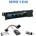 Poste 1-DIN CD/USB/Bluetooth BMW Série 3 E46 de 1998 à 2006 & M3 - autoradio JVC et Kenwood au choix