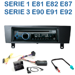 Poste 1-DIN CD/USB/Bluetooth BMW Serie 1 & Serie 3 de 2005 à 2012 - autoradio JVC et Kenwood au choix
