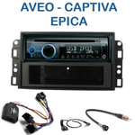 Poste 1-DIN CD/USB/Bluetooth Chevrolet Aveo, Captiva & Epica - autoradio JVC et Kenwood au choix