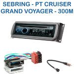 Poste 1-DIN CD/USB/Bluetooth Chrysler 300M, Voyager, Sebring, Town & Country, Stratus & Grand Voyager - autoradio JVC et Kenwood au choix