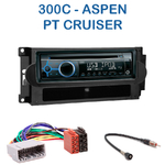 Poste 1-DIN CD/USB/Bluetooth Chrysler PT Cruiser, 300C & Aspen - autoradio JVC et Kenwood au choix
