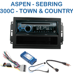 Poste 1-DIN CD/USB/Bluetooth Chrysler 300C, Sebring, Aspen, Town & Country (Remplace autoradio REJ d'origine) - autoradio JVC et Kenwood au choix