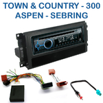 Poste 1-DIN CD/USB/Bluetooth Chrysler 300C, Sebring, Aspen, Town & Country - autoradio JVC et Kenwood au choix