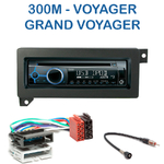 Poste 1-DIN CD/USB/Bluetooth Chrysler 300M, Voyager & Grand Voyager - autoradio JVC et Kenwood au choix