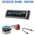 Poste 1-DIN CD/USB/Bluetooth Dodge RAM & Neon - autoradio JVC et Kenwood au choix