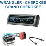 Autoradio Clarion Jeep Wrangler, Cherokee & Grand Cherokee - CZ215E, FZ502E ou CZ315E au choix