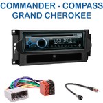 Autoradio Clarion Jeep Commander, Compass, Patriot & Grand Cherokee - CZ215E, FZ502E ou CZ315E au choix