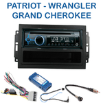 Autoradio Clarion Jeep Commander, Compass, Grand Cherokee, Patriot & Wrangler (Remplace autoradio REJ d'origine) - CZ215E, FZ502E ou CZ315E au choix