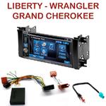 Autoradio 2-DIN Alpine Jeep Commander, Grand Cherokee, Liberty & Wrangler - CDE-W296BT, IVE-W560BT, IVE-W585BT OU ICS-X8 AU CHOIX
