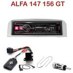 Autoradio Alpine Alfa Romeo 147 et GT - façade grise ou noire - UTE-72BT, UTE-92BT, CDE-173BT, CDE-190R, CDE-193BT ou CDE-195BT au choix