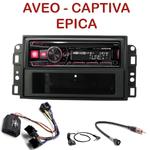 Autoradio Alpine Chevrolet Aveo, Captiva & Epica - UTE-72BT, UTE-92BT, CDE-173BT, CDE-190R, CDE-193BT ou CDE-195BT au choix