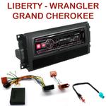 Autoradio Alpine Jeep Commander Grand Cherokee Liberty Wrangler - UTE-72BT, UTE-92BT, CDE-173BT, CDE-190R, CDE-193BT ou CDE-195BT au choix